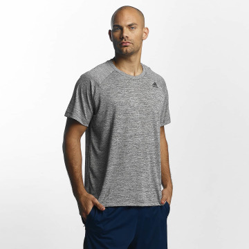 adidas Performance T-Shirt D2M Heathered gray