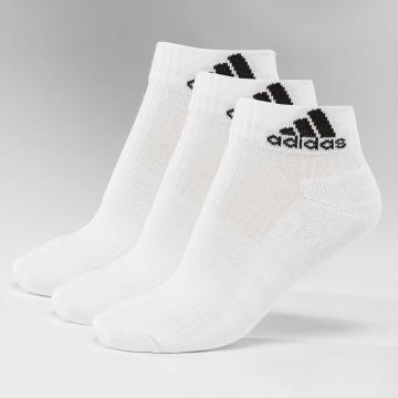 adidas Sukat 3-Stripes An HC 3-Pairs valkoinen