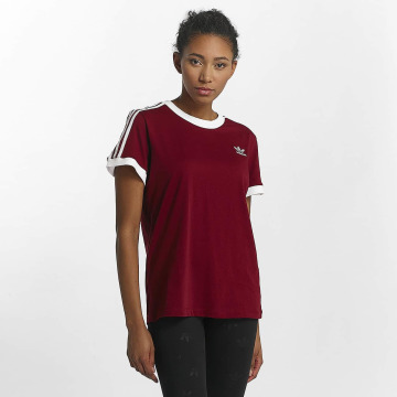 adidas T-Shirt 3 Stripes red