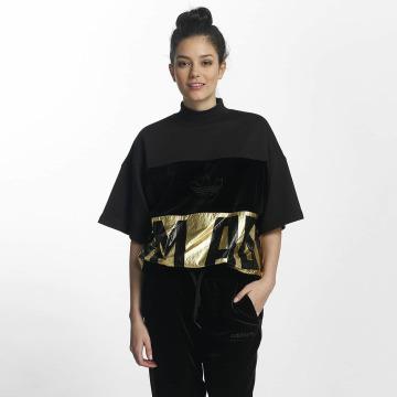 adidas T-Shirt Adidas Sweater T-Shirt schwarz