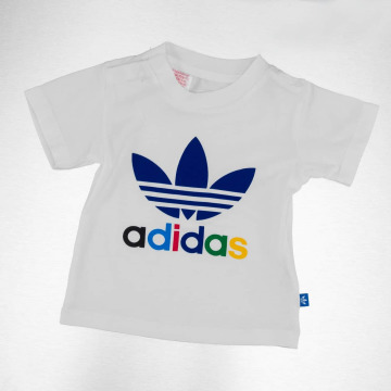 adidas T-shirts Trefoil hvid