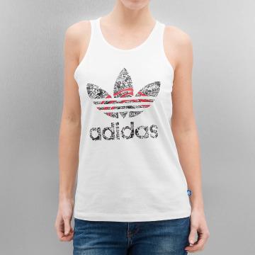 adidas Tank Tops Trefoil weiß