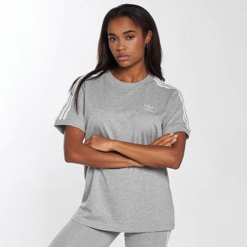 adidas Tričká 3 Stripes šedá