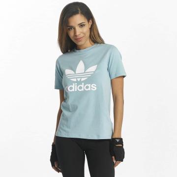 adidas Tričká Trefoil modrá