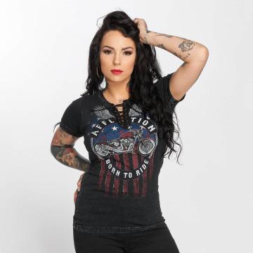 Affliction T-Shirty A Frame czarny