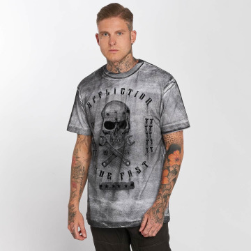 Affliction T-Shirty On The Tracks szary