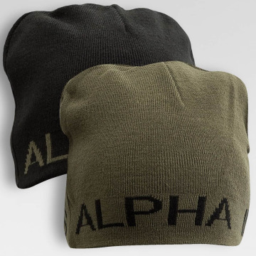 Alpha Industries Beanie Reversible zwart