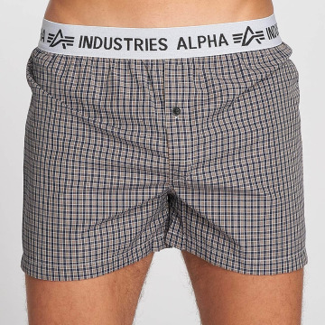 Alpha Industries Bokserit Checked ruskea