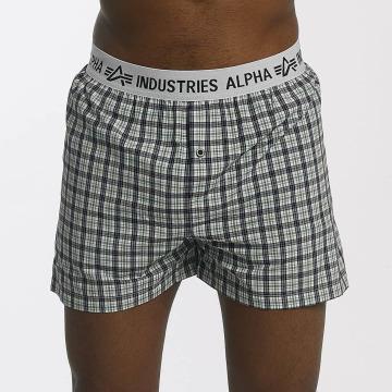 Alpha Industries Bokserki Checked zielony