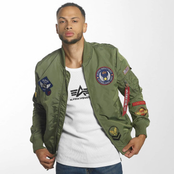 Alpha Industries Bomberjack MA-1 TT Patch II groen