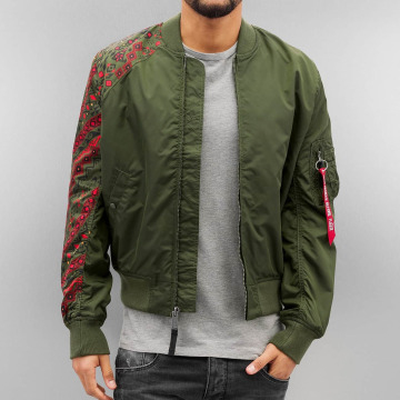 Alpha Industries Bomberjacke MA-1 TT Tattoo grün