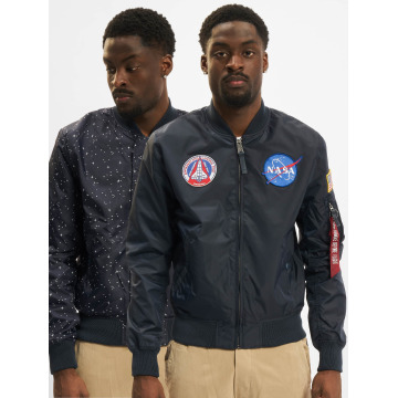 Alpha Industries Bomberová bunda MA-1 TT NASA Reversible II modrá