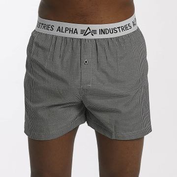 Alpha Industries Boxershorts Checked schwarz
