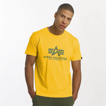 Alpha Industries Camiseta Basic amarillo