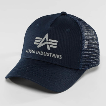 Alpha Industries Casquette Trucker mesh Basic bleu