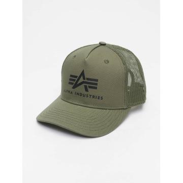 Alpha Industries Casquette Trucker mesh Basic vert
