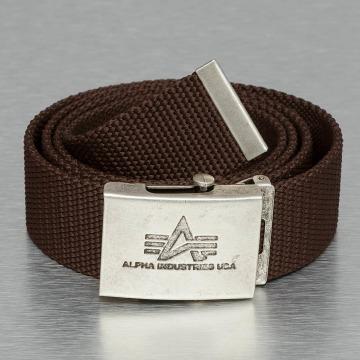 Alpha Industries Ceinture Heavy Duty brun
