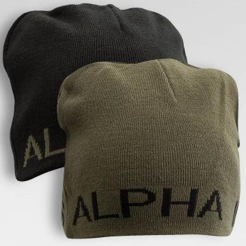 Alpha Industries Czapki Reversible czarny