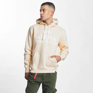 Alpha Industries Hoodies Foam Print beige