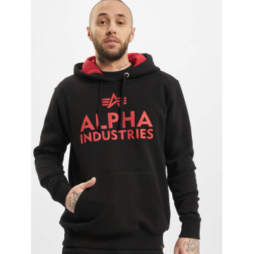 Alpha Industries Hupparit Foam Print musta