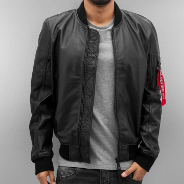 Alpha Industries Nahkatakit MA-1 Leather LW || musta