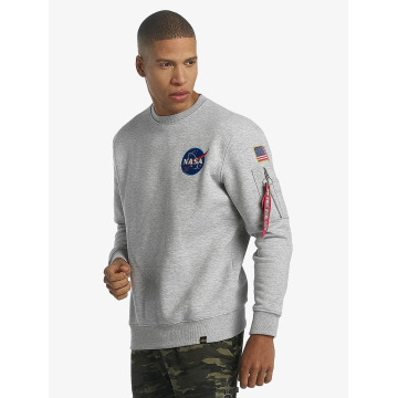 Alpha Industries Pullover Space Shuttle gray