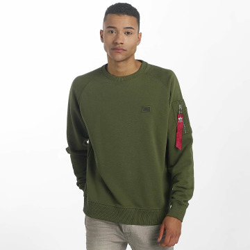 Alpha Industries Pullover X-Fit grün