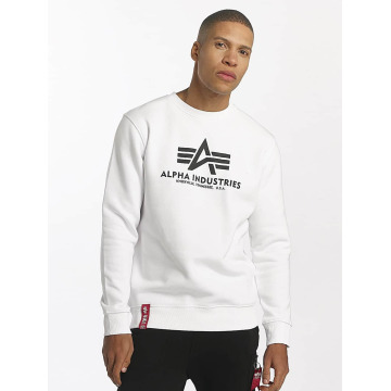 Alpha Industries Pullover Basic weiß