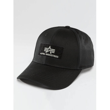 Alpha Industries Snapback Caps Velcro musta
