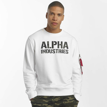Alpha Industries Swetry Camo Print bialy
