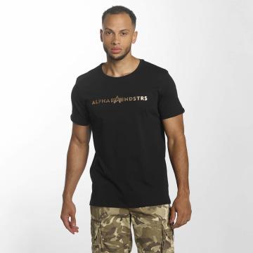 Alpha Industries T-Shirt Alphandstrs black