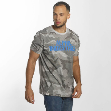 Alpha Industries T-Shirt Blurred grau