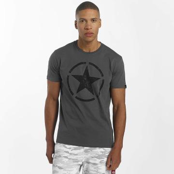 Alpha Industries T-Shirt Star grey