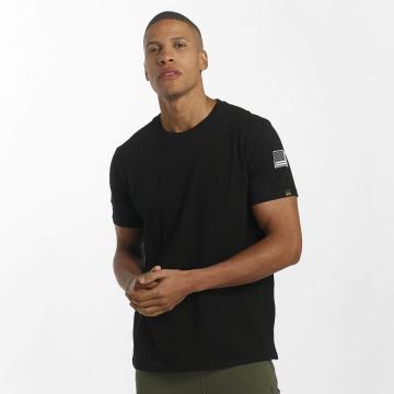 Alpha Industries T-Shirt NASA schwarz