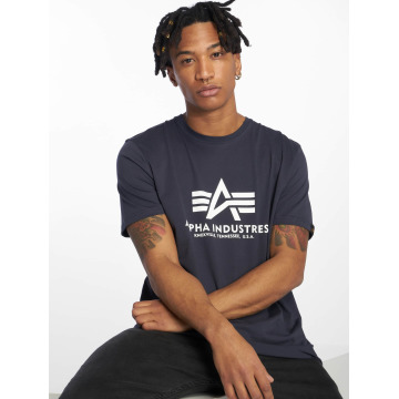 Alpha Industries T-shirts Basic blå