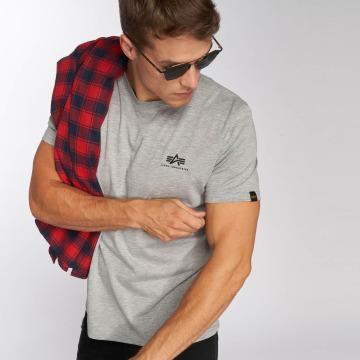 Alpha Industries T-Shirty Basic Small Logo szary