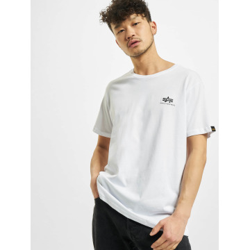 Alpha Industries T-skjorter Basic Small Logo hvit