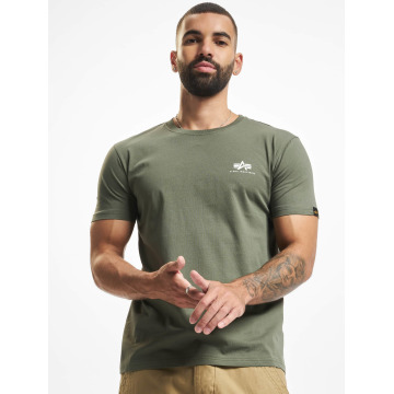 Alpha Industries T-skjorter Basic Small Logo oliven