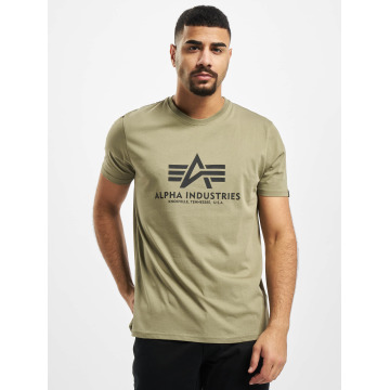 Alpha Industries T-skjorter Basic oliven