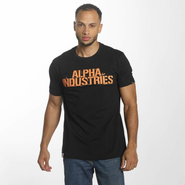 Alpha Industries T-skjorter Blurred svart