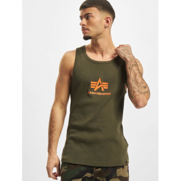 Alpha Industries Tanktop Logo groen
