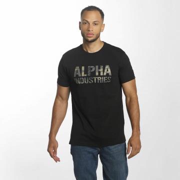 Alpha Industries Tričká Camo Print èierna