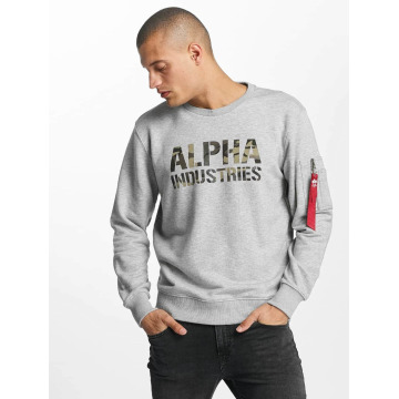 Alpha Industries Tröja Camo Print grå