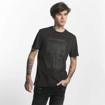 Amplified Camiseta Metallica The Black Album gris
