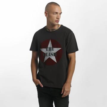Amplified Camiseta The Clash Star Logo gris