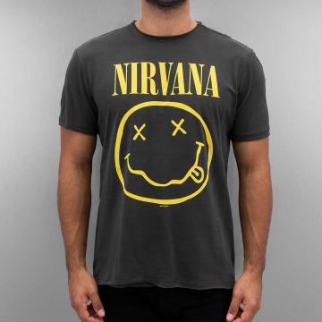 Amplified T-shirt Nirvana Smiley Face grå