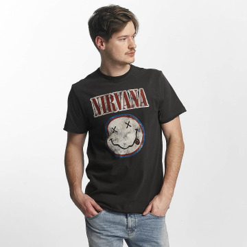Amplified T-shirt Nirvana Colour Smiley grigio