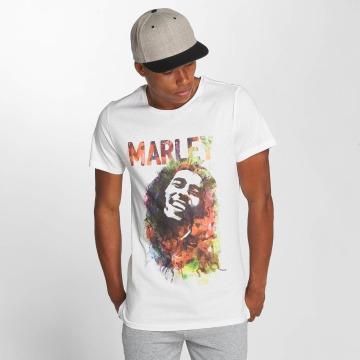 Amplified T-shirts Bob Marley Water Color hvid