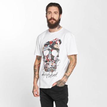 Amplified T-shirts Plecktrum Skull hvid