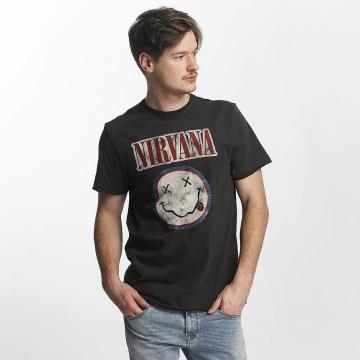 Amplified Tričká Nirvana Colour Smiley šedá